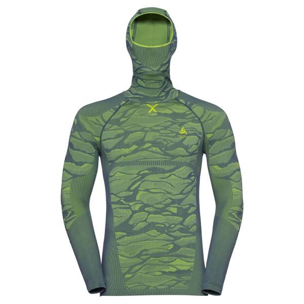 Odlo Herren BLACKCOMB Funktionsunterwäsche Langarm-Shirt mit Gesichtsmaske