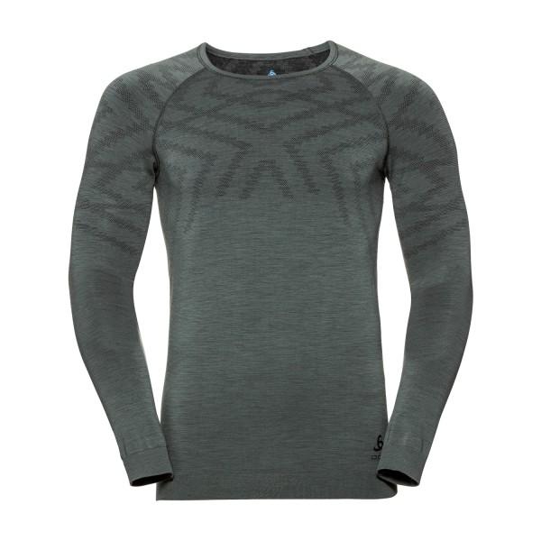 Odlo Herren NATURAL + KINSHIP WARM Funktionsunterwäsche Langarm-Shirt