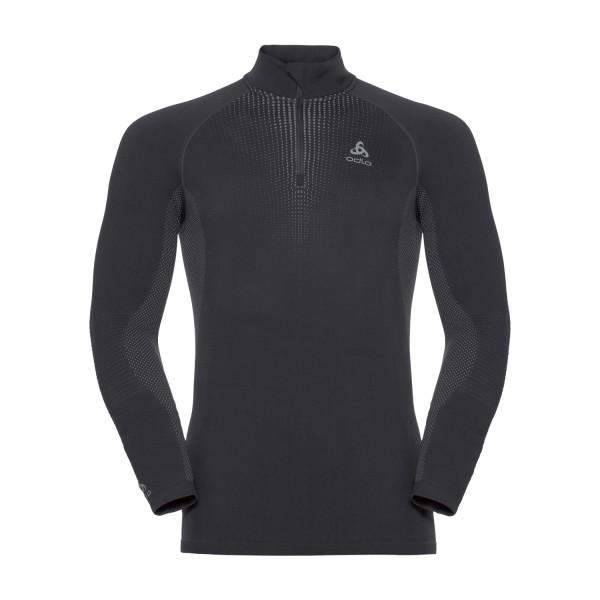 Odlo Herren PERFORMANCE WARM Funktionsunterwäsche Langarm-Shirt mit 1/2 Reißverschlus